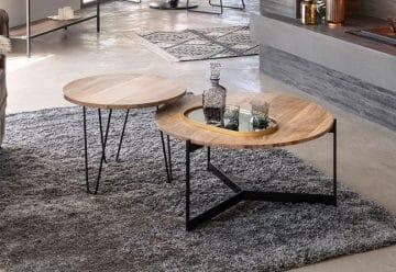 Deux tables basses rondes