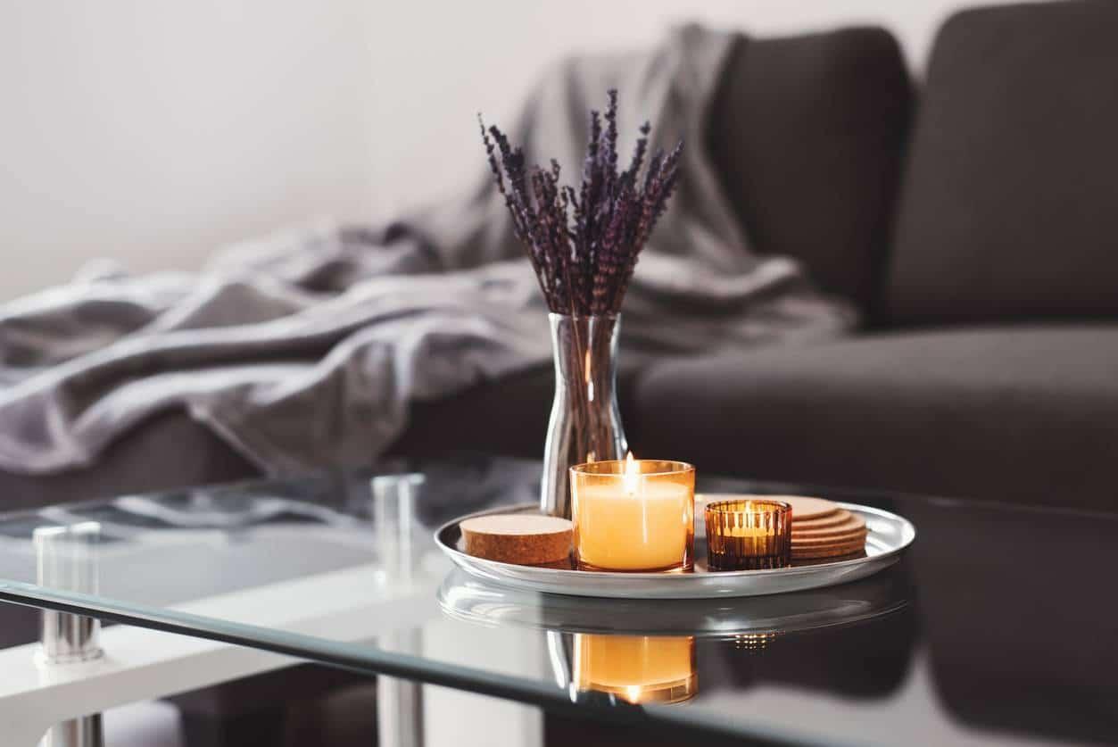bougies naturelles pour parfum d'intérieur