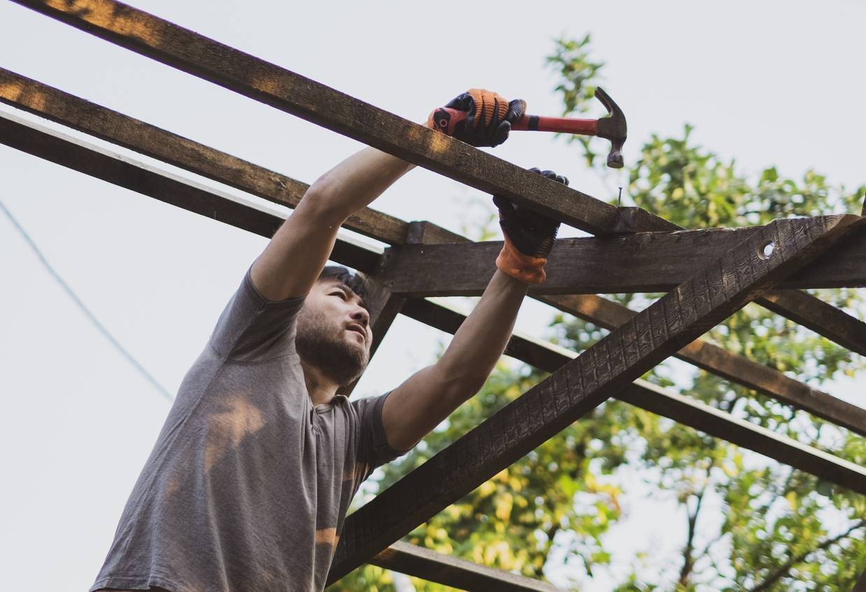 Pergola construction artisan bois
