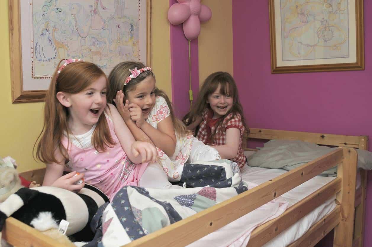 aménager chambre enfants lit superposé
